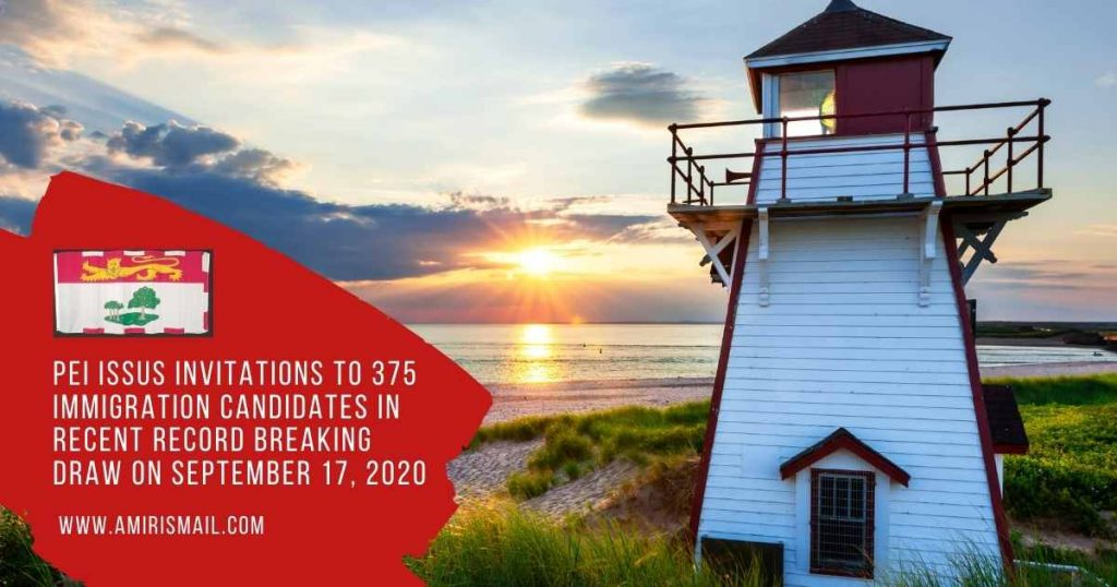 New PEI Record Breaking Immigration Draw sees selection of 345 immigration candidates from Express Entry and Labour Market categories
